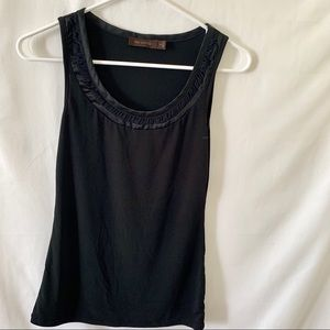 The Limited Basic Black Scoop Neck Tank Top XS